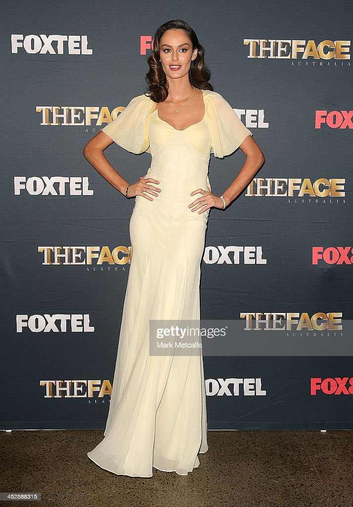 <a gi-track='captionPersonalityLinkClicked' href=/galleries/search?phrase=Nicole+Trunfio&family=editorial&specificpeople=3006654 ng-click='$event.stopPropagation()'>Nicole Trunfio</a> poses during a photo call for Australian TV show, 'The Face of Australia' at Carriage Works on November 30, 2013 in Sydney, Australia.