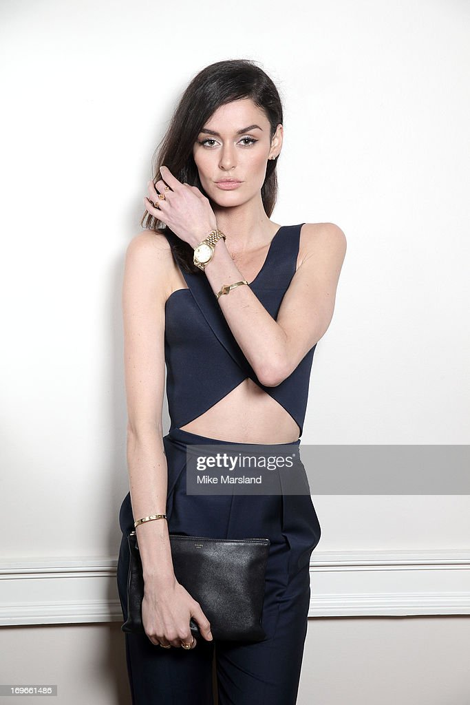 Nicole Trunfio poses for Stella/Esquire Portrait Studio at Somerset House on May 29, 2013 in London, England.