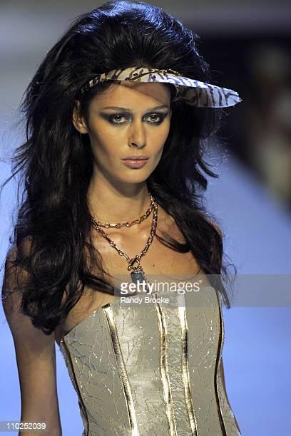 Nicole Trunfio wearing Baby Phat Spring 2006 during Olympus Fashion Week Spring 2006 Baby Phat Runway at Radio City Music Hall in New York City New...
