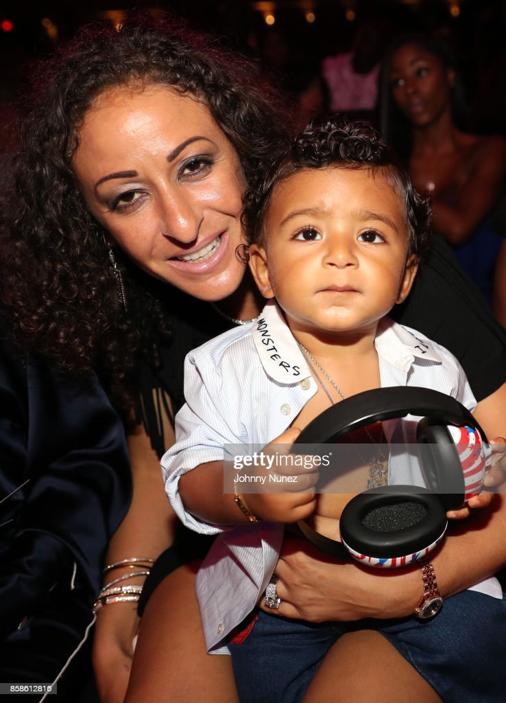 Nicole Tuck and Asahd Khaled attend the 2017 BET Hip Hop Awards on October 6, 2017 in Miami Beach, Florida.