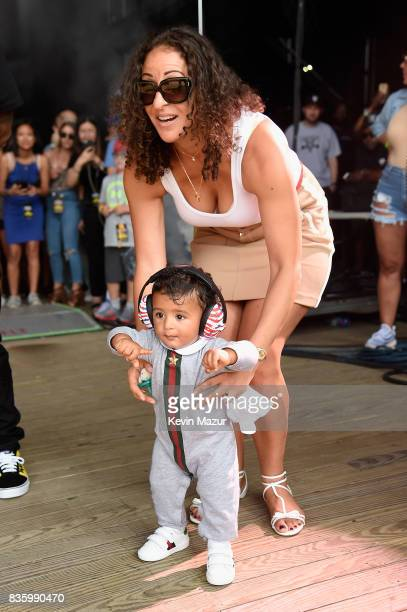 Nicole Tuck and Asahd Tuck Khaled attend Day Two of 2017 Billboard Hot 100 Festival at Northwell Health at Jones Beach Theater on August 20 2017 in...