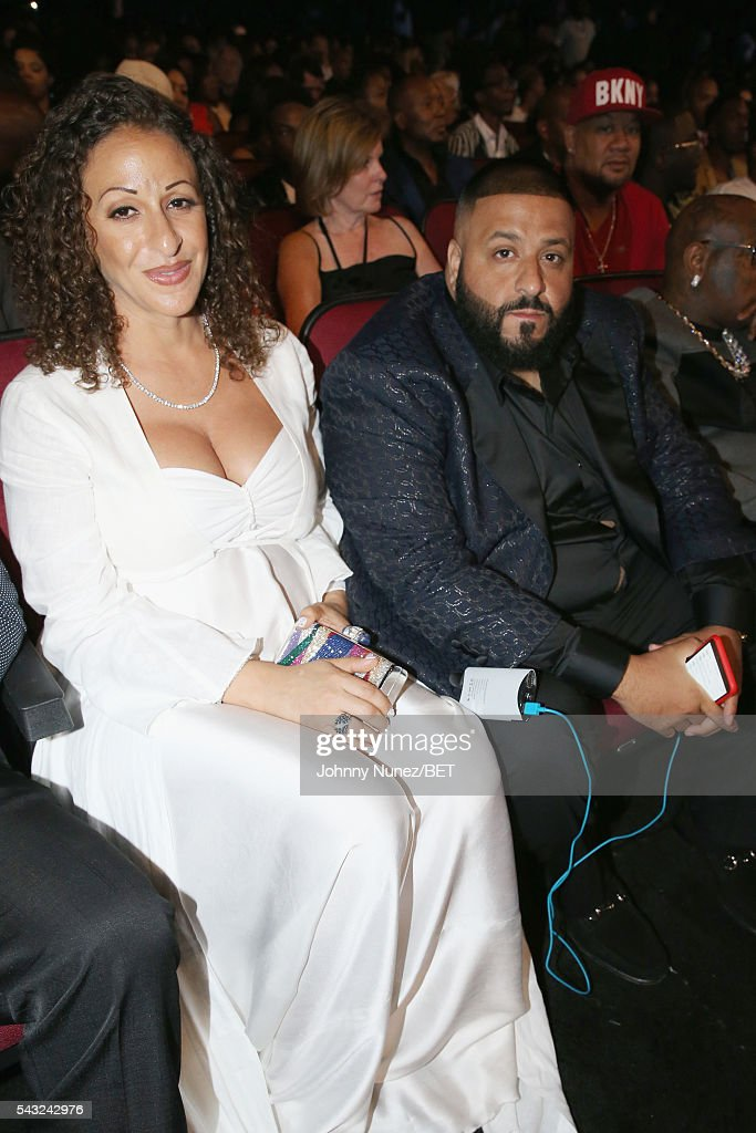 Nicole Tuck and <a gi-track='captionPersonalityLinkClicked' href=/galleries/search?phrase=DJ+Khaled&family=editorial&specificpeople=577862 ng-click='$event.stopPropagation()'>DJ Khaled</a> (R) attend the 2016 BET Awards at the Microsoft Theater on June 26, 2016 in Los Angeles, California.