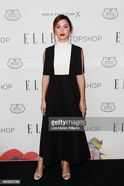 Nicole Warne arrives ahead of the ELLE Style Awards at The Mint on October 29 2015 in Sydney Australia