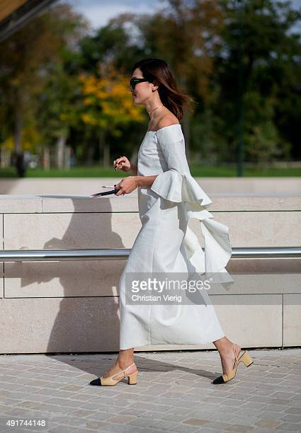 Nicole Warne at Louis Vuitton during the Paris Fashion Week Womenswear Spring/Summer 2016 on Oktober 7 2015 in Paris France