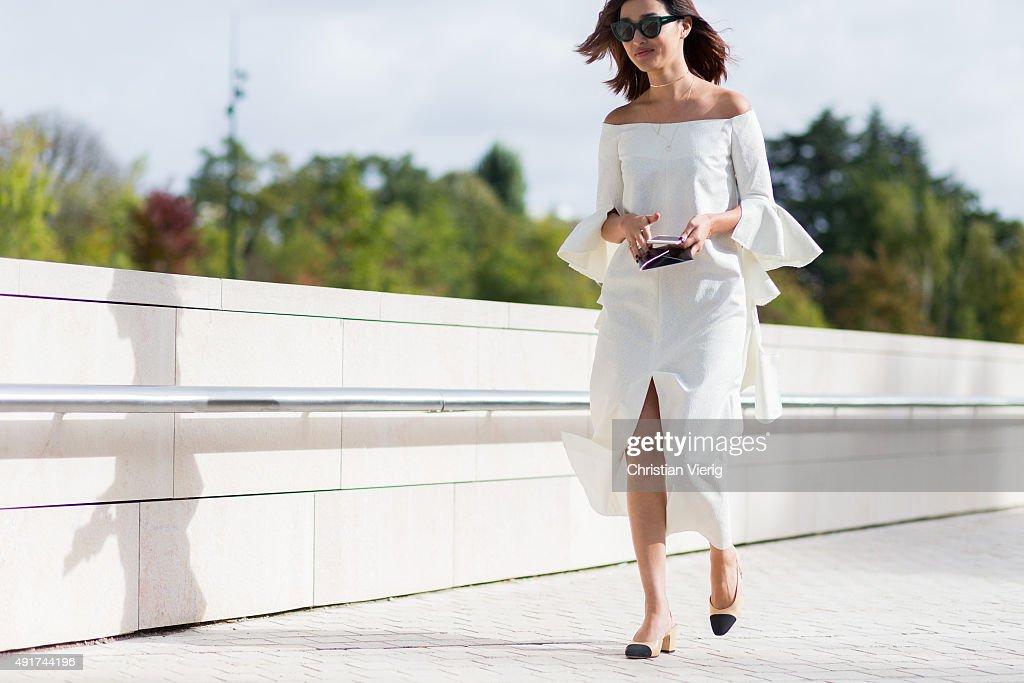Nicole Warne at Louis Vuitton during the Paris Fashion Week Womenswear Spring/Summer 2016 on Oktober 7 2015 in Paris France