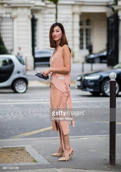 Nicole Warne at Miu Miu during the Paris Fashion Week Womenswear Spring/Summer 2016 on Oktober 7 2015 in Paris France