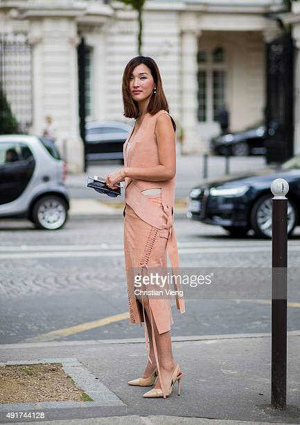 Nicole Warne at Miu Miu during the Paris Fashion Week Womenswear Spring/Summer 2016 on Oktober 7 2015 in Paris France