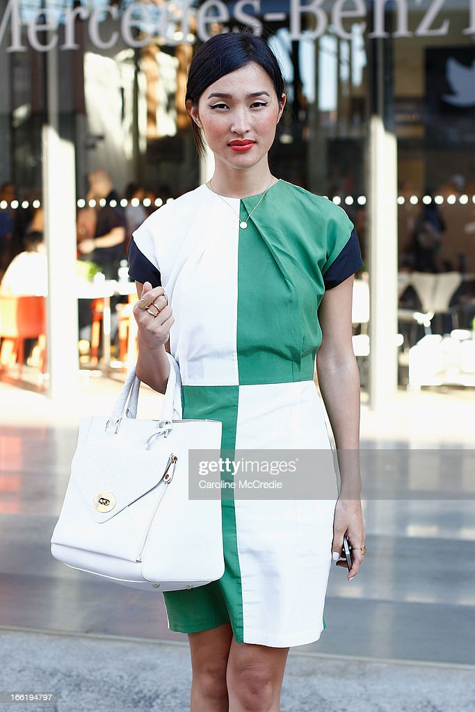 Nicole Warne attends Mercedes-Benz Fashion Week Australia Spring/Summer 2013/14 at Carriageworks on April 10, 2013 in Sydney, Australia.