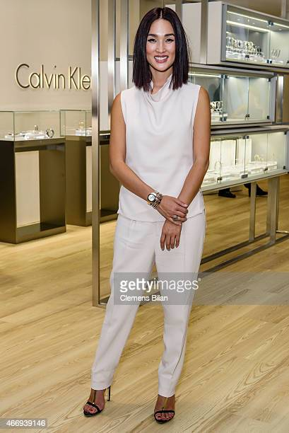 Nicole Warne attends the Calvin Klein Watches Jewelery booth at Baselworld 2015 on March 19 2015 in Basel Switzerland
