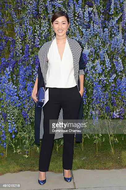 Nicole Warne attends the Christian Dior show as part of the Paris Fashion Week Womenswear Spring/Summer 2016 on October 2 2015 in Paris France