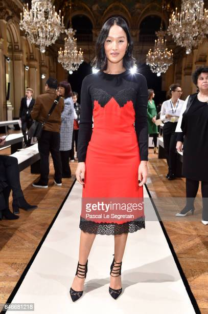 Nicole Warne attends the Lanvin show as part of the Paris Fashion Week Womenswear Fall/Winter 2017/2018 on March 1 2017 in Paris France