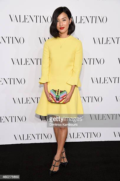 Nicole Warne attends the Valentino Sala Bianca 945 Event on December 10 2014 in New York City
