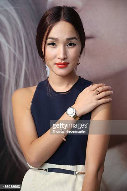 Nicole Warne during a Private Dinner hosted by Calvin Klein Watches Jewelery at Brasilea Foundation on March 19 2015 in Basel Switzerland
