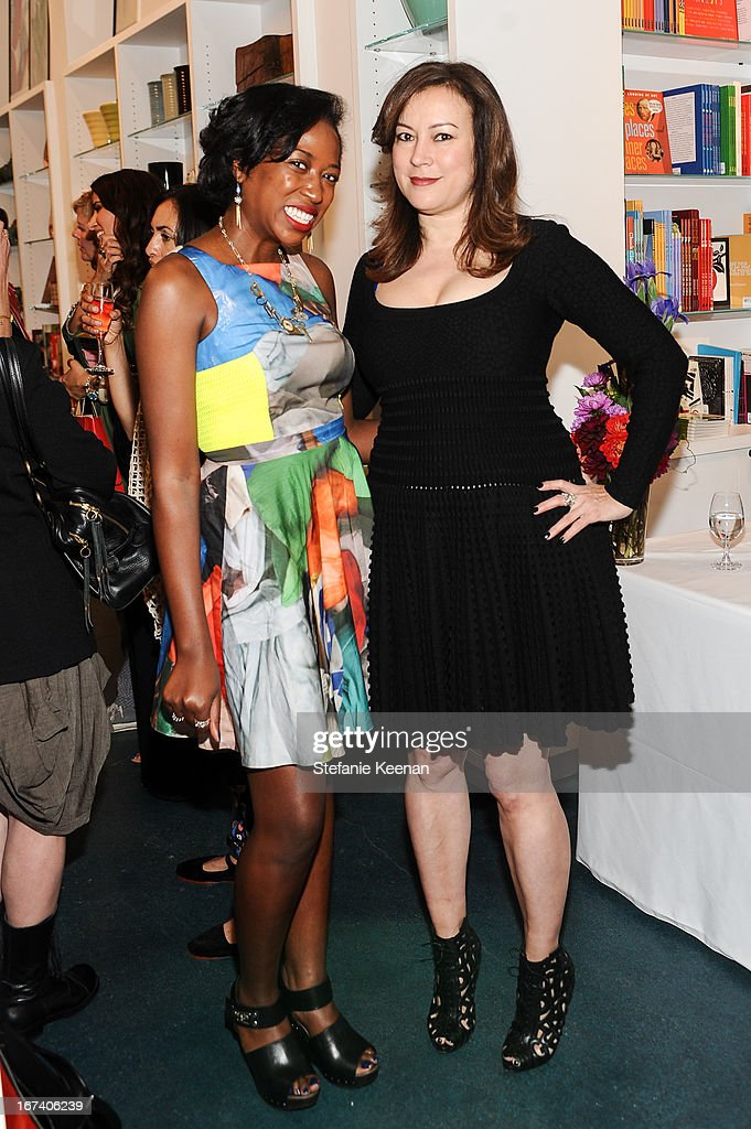 Nicole Williams and <a gi-track='captionPersonalityLinkClicked' href=/galleries/search?phrase=Jennifer+Tilly&family=editorial&specificpeople=202575 ng-click='$event.stopPropagation()'>Jennifer Tilly</a> attend Director's Circle Celebrates Wear LACMA, Sponsored By NET-A-PORTER And W at LACMA on April 24, 2013 in Los Angeles, California.