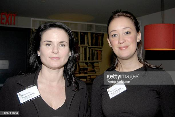 Nicole Williams and Rachel Arnold attend The Glasshouse New York An Evening With Wikipedia founder Jimmy 'Jimbo' Wales Moderated By Journalist Judith...