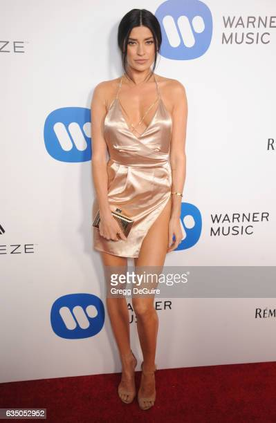 Nicole Williams arrives at Warner Music Group's Annual GRAMMY Celebration at Milk Studios on February 12 2017 in Hollywood California