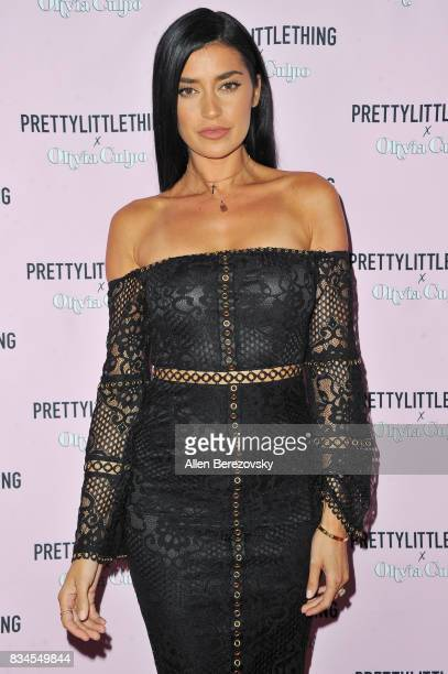 Nicole Williams attends PrettyLittleThing X Olivia Culpo Launch at Liaison Lounge on August 17 2017 in Los Angeles California