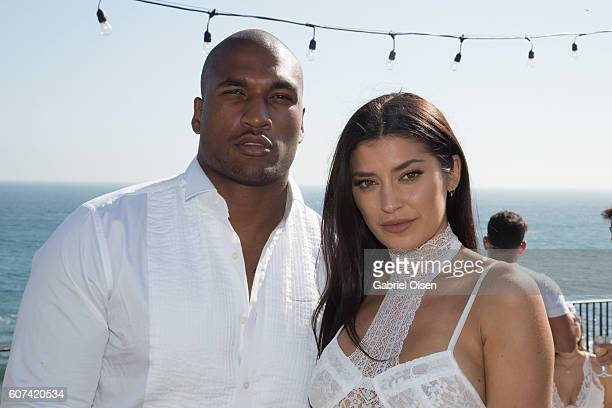Nicole Williams Larry English attend the Treats Magazine 4th Annual White Party Sponsored By Stella Artois on September 17 2016 in Malibu California