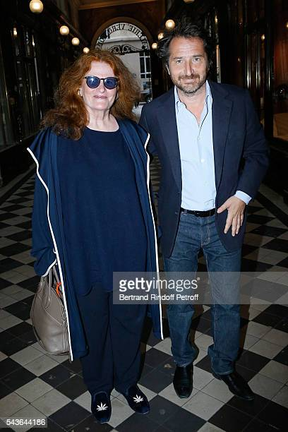 Nicole Wisniak and Edouard Baer attend the Private View of 'Francoise Sagan Photographer' Photo Exhibition at Galerie Pierre Passebon on June 29 2016...