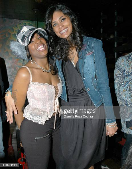 Nicole Wray and Rachel Roy during Patricia Field for the House of Rocawear Lounge at Ono at the Hotel Gansevort in New York City New York United...