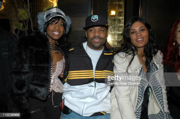 Nicole Wray Damon Dash and Rachel Roy during Patricia Field for the House of Rocawear Lounge at Ono at the Hotel Gansevort in New York City New York...