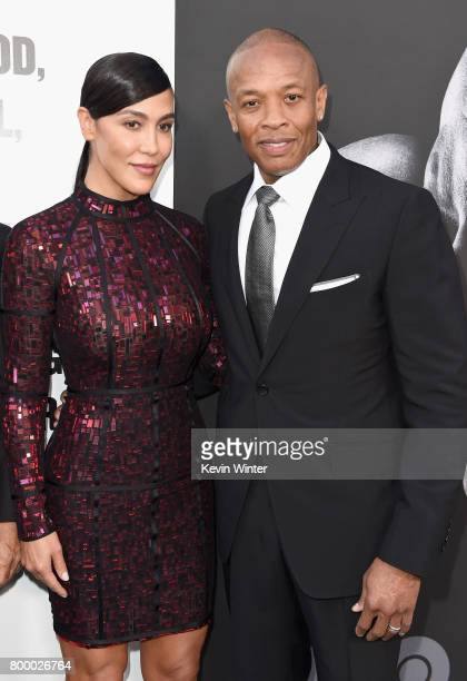 Nicole Young and Dr Dre attend the premiere Of HBO's 'The Defiant Ones' at Paramount Theatre on June 22 2017 in Hollywood California