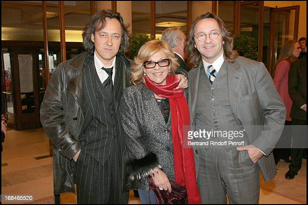 Nicoletta and husband Christophe Molinier and Bill Pallot at Amnesty International Gala Evening Musique Contre L'Oubli At TheTheatre Des Champs...