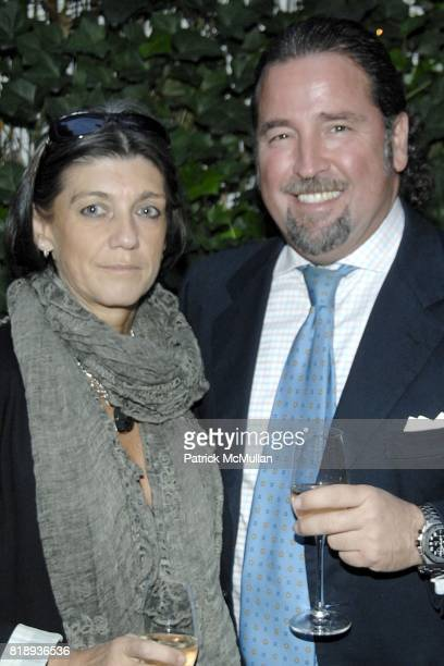 Nicoletta Canesi and Giovanni Potenza attend LA TRIENNALE DI MILANO and ARTLIVINGNY Celebrate The Announcement of TRIENNALE NEW YORK at Falai on May...