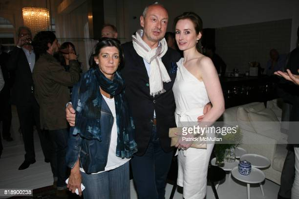 Nicoletta Canesi Piero Lissoni and Pola Bamberg attend The Launch of BY LISSONI at Lissoni/Boffi Showroom on May 17 2010 in New York City