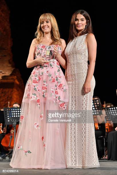Nicoletta Luppi and Ilaria Spada attend Nations Award presentation on July 28 2017 in Taormina Italy