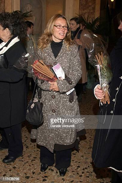 Nicoletta Mantovani attends the ceremony at which the Modena Communal Theatre was renamed the 'Luciano Pavarotti Communal Theatre' on December 6 2007...