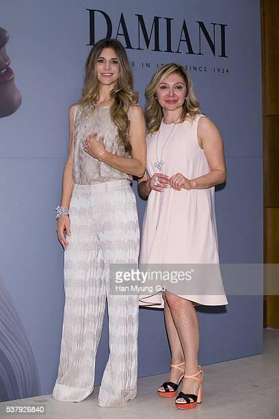Nicoletta Romanoff and Silvia Damiani attend the photocall for DAMIANI 'Romanov Collection' Launch on June 3 2016 in Seoul South Korea