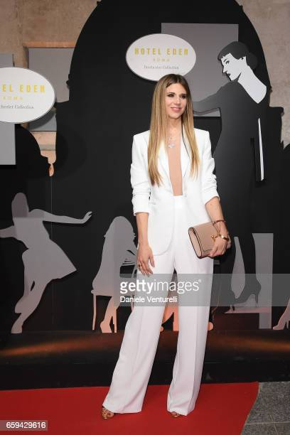 Nicoletta Romanoff attend Grand Opening Party Hotel Eden of Hotel Eden on March 28 2017 in Rome Italy