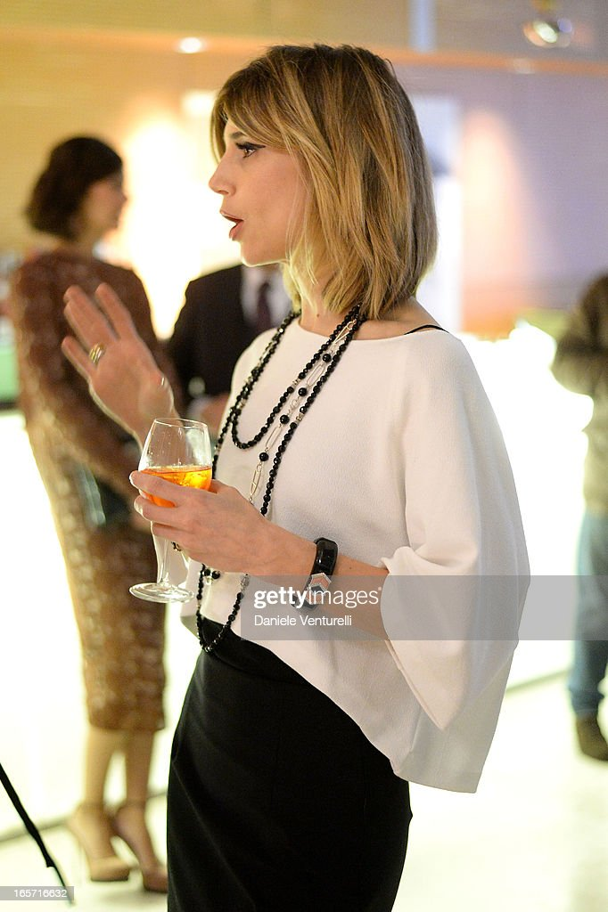 Nicoletta Romanoff attends a gala dinner by Antonello Colonna for the movie 'Olympus Has Fallen' on April 5, 2013 in Rome, Italy.