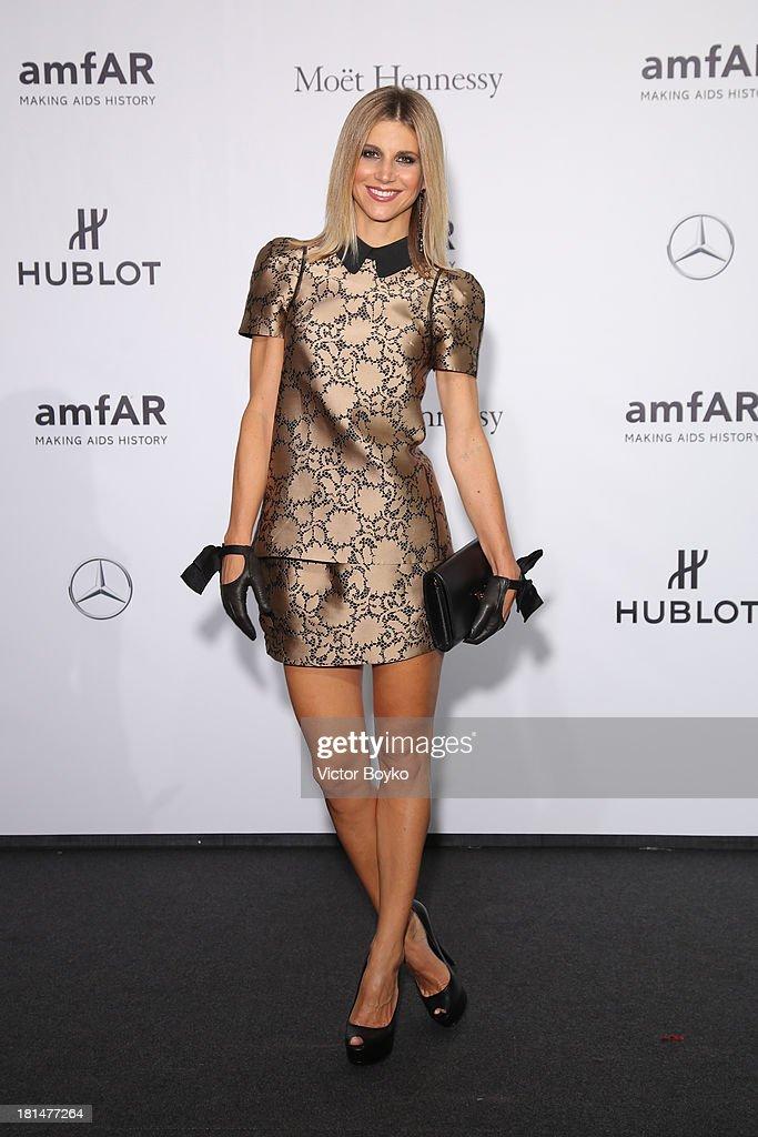 Nicoletta Romanoff attends the amfAR Milano 2013 Gala as part of Milan Fashion Week Womenswear Spring/Summer 2014 at La Permanente on September 21, 2013 in Milan, Italy.