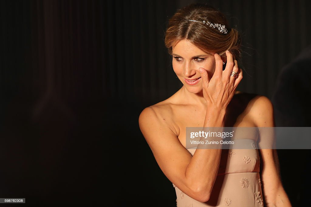 Nicoletta Romanoff attends the premiere of 'Franca: Chaos And Creation' during the 73rd Venice Film Festival at Sala Giardino on September 2, 2016 in Venice, Italy.