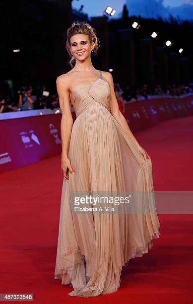 Nicoletta Romanoff attends the Rome Film Festival Opening and 'Soap Opera' Red Carpet during the 9th Rome Film Festival at Auditorium Parco Della...