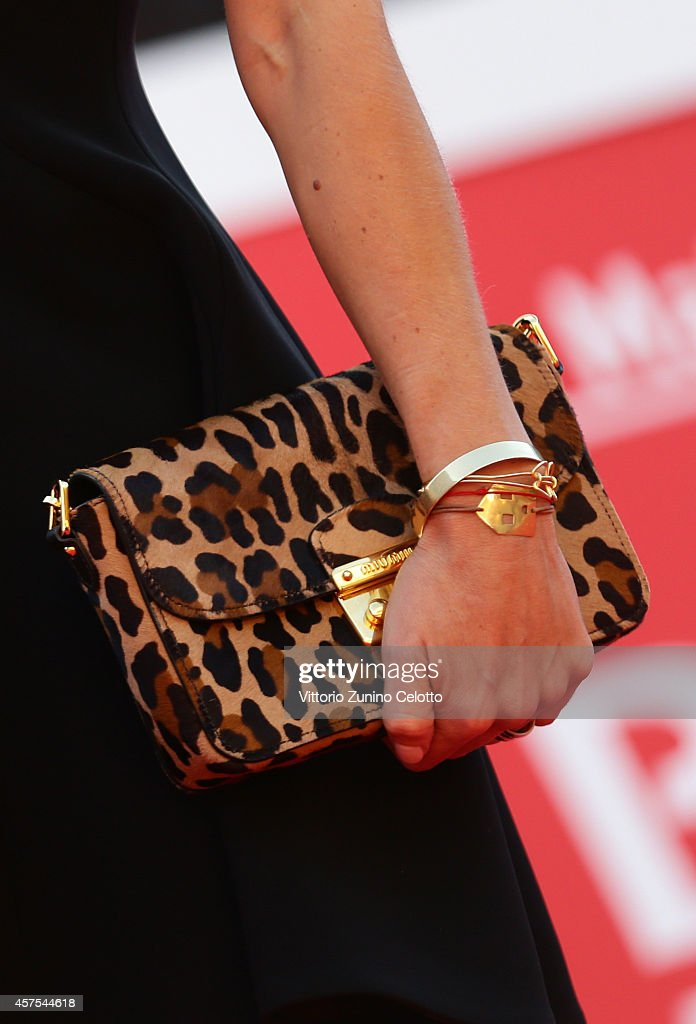 Nicoletta Romanoff attends Walter Salles and Jia Zhangke On The Red Carpet during the 9th Rome Film Festival on October 20 2014 in Rome Italy