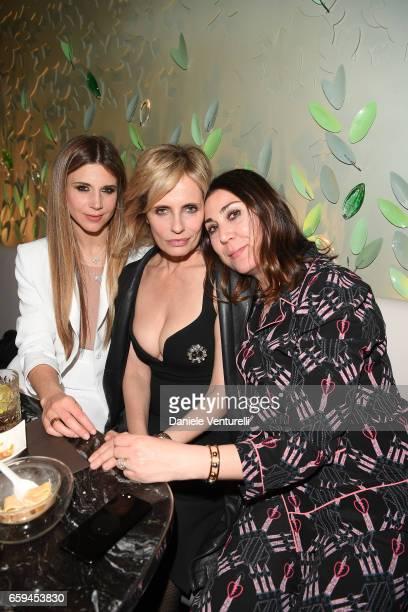 Nicoletta Romanoff Isabella Ferrari and Eleonora Pratelli attend Grand Opening Party Hotel Eden of Hotel Eden on March 28 2017 in Rome Italy