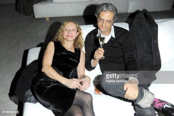 Nicoletta Santoro and Max Vadukul attend CALVIN KLEIN COLLECTION Afterparty to Celebrate the Men's Women's Fall 2010 Collections at 15 Little West...