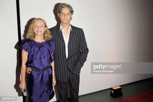 Nicoletta Santoro and Max Vadukul attend LINDA EVANGELISTA NOTIFY Party to Celebrate RON ARAD at MoMA at The Modern Museum of Art on September 15...