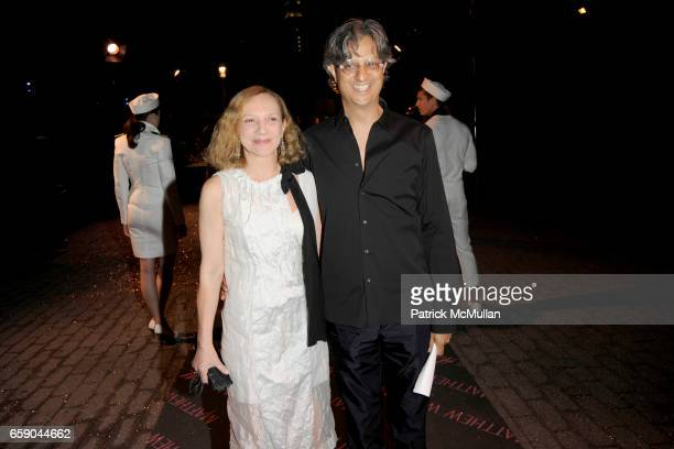 Nicoletta Santoro and Max Vadukul attend MATTHEW WILLIAMSON Summer Collection for HM Launch Party INSIDE at Pier 17 on April 28 2009 in New York City