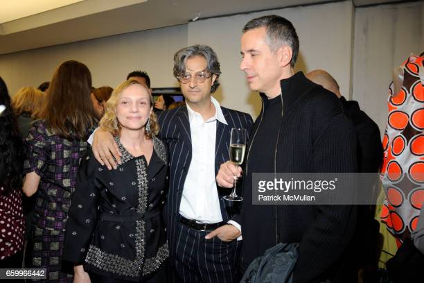 Nicoletta Santoro Max Vadukul and John Rosen attend MARNI Uptown Opening Party at Marni Boutique on May 5 2009 in New York City