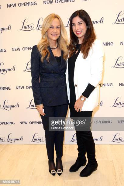 Nicoletta Spagnoli and Alexandra Polzin during the Luisa Spagnoli boutique opening Munich at Preysing Palais on October 10 2017 in Munich Germany