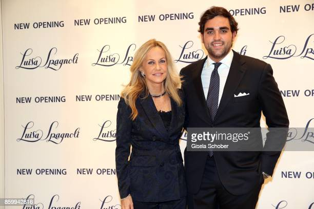Nicoletta Spagnoli and her son Nicola Spangnoli during the Luisa Spagnoli boutique opening Munich at Preysing Palais on October 10 2017 in Munich...