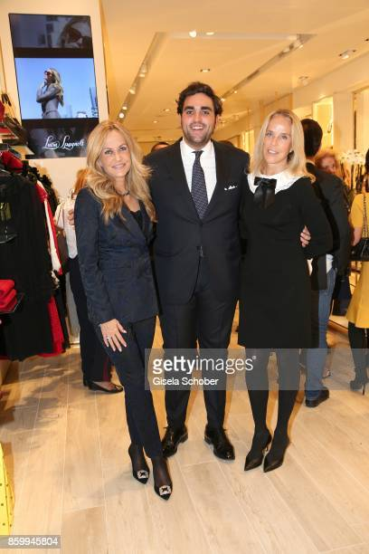 Nicoletta Spagnoli her son Nicola Spangnoli and her sister Carla Spagnoli during the Luisa Spagnoli boutique opening Munich at Preysing Palais on...