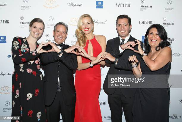 Nicolette Koeman Carlos Muriel Petra Nemcova Pablo Sprenger and Martha Mejia attend the Happy Hearts Foundation gala at Sheraton Maria Isabel Hotel...