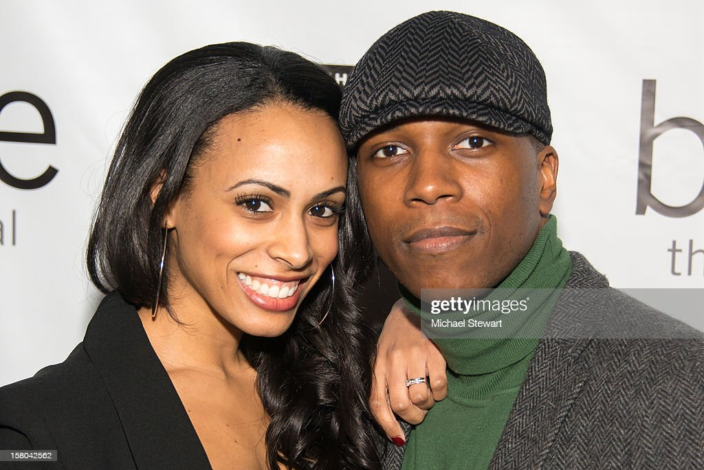 Nicolette Robinson (L) and actor Leslie Odom Jr. attend 'BARE The Musical' Opening Night at New World Stages on December 9, 2012 in New York City.
