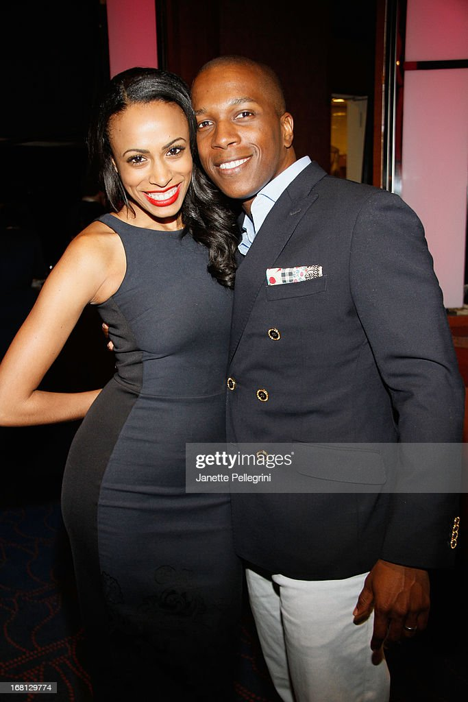 Nicolette Robinson and Leslie Odom, Jr. attends the 28th Annual Lucille Lortel Awards After Party on May 5, 2013 in New York City.