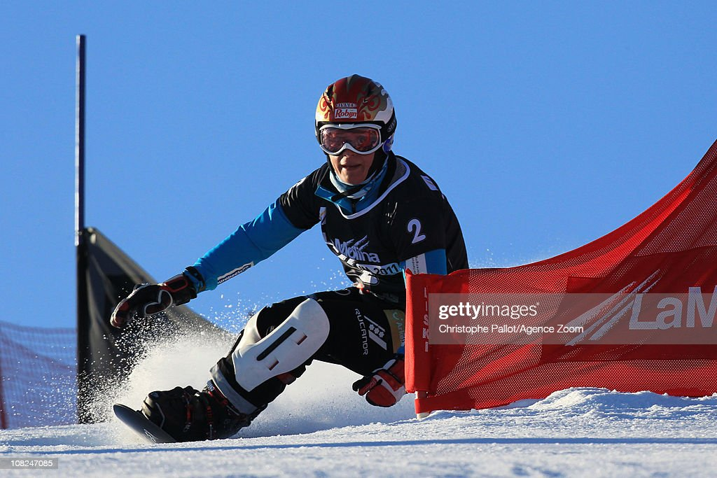 <a gi-track='captionPersonalityLinkClicked' href=/galleries/search?phrase=Nicolien+Sauerbreij&family=editorial&specificpeople=869490 ng-click='$event.stopPropagation()'>Nicolien Sauerbreij</a> of the Netherlands takes 2nd place during the FIS Snowboard World Championships Men's and Women's Parallel Slalom on January 22, 2011 in La Molina, Spain.